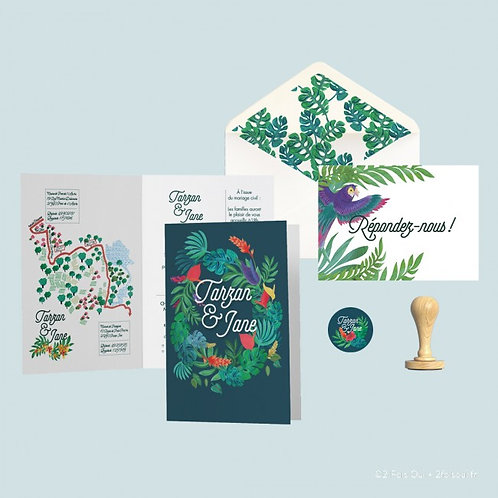 PACK INVITATION // Collection Tarzan et Jane