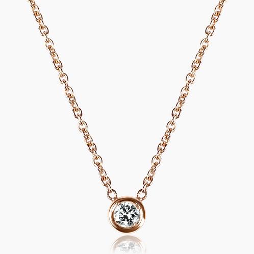 COLLIER // Or rose sertissure diamant