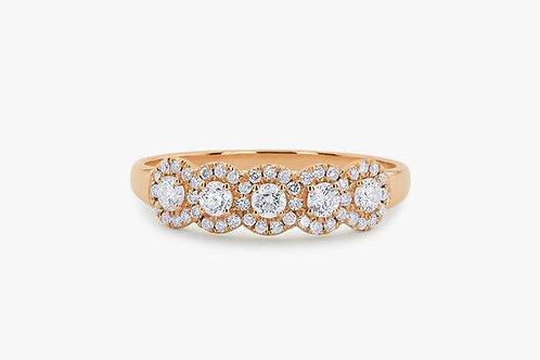 ALLIANCE // Or rose diamants et diamants pavés taille brillants