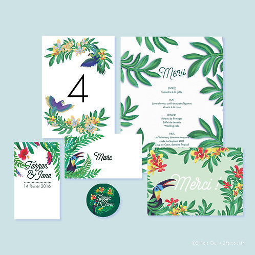 PACK PAPETERIE JOUR J // Collection Tarzan & Jane