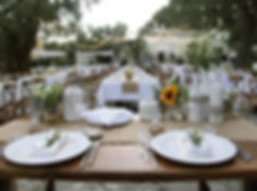 Table de reception mariage