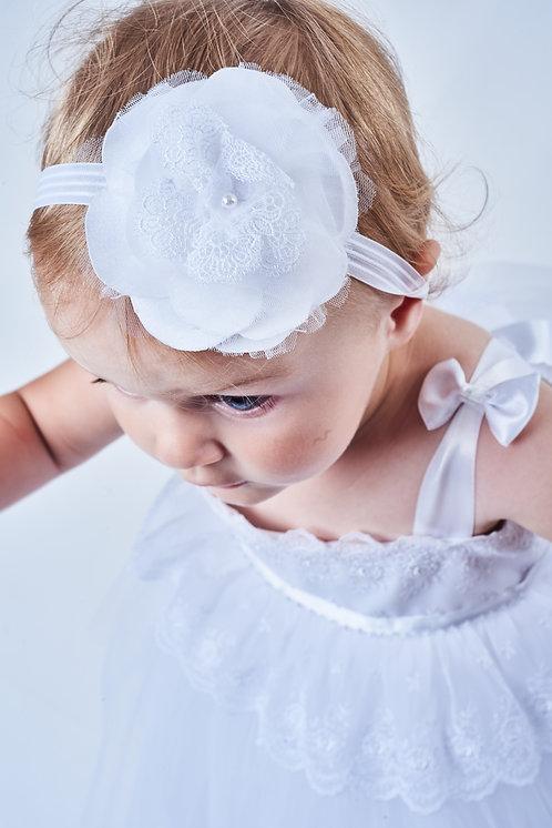 ACCESSOIRE CÉRÉMONIE // Ruban à fleur satin dentelle et perle
