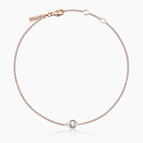 BRACELET // Or rose serti diamants de taille brillant