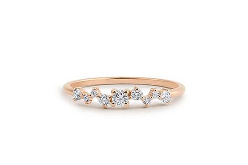 ALLIANCE // Or rose et diamants taille brillants