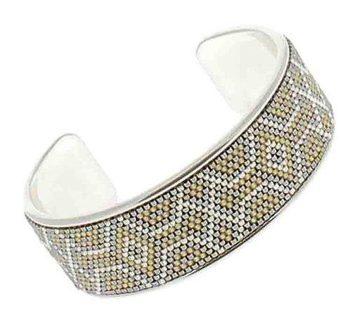 BIJOUX FANTAISIE // Bracelet jonc argent perles japonaises tissées