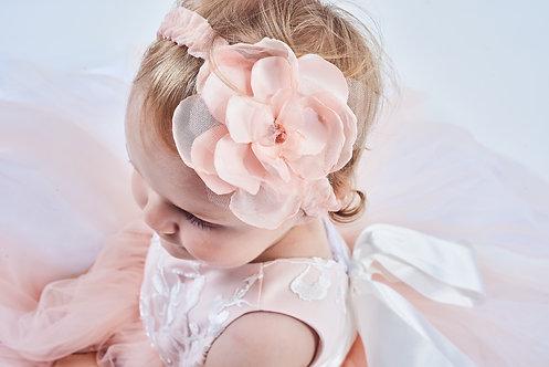 ACCESSOIRE CÉRÉMONIE // Ruban à fleur rose pâle