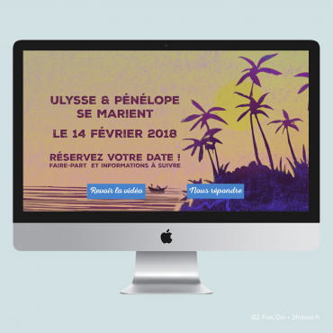 FAIRE-PART EN LIGNE// Save the date