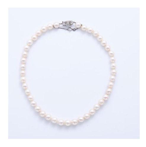 BIJOUX VINTAGE // Collier perles culture en chute