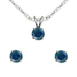 PARURE // Argent et diamants bleus