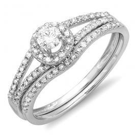 ALLIANCE // Or blanc diamant et diamants taille brillants