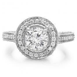 ALLIANCE // Or blanc diamant semi pavé diamants taille brillants