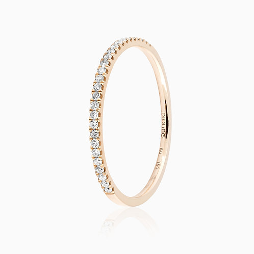ALLIANCE // Or rose demi-pavage diamants