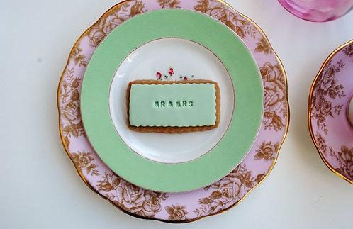 CADEAU INVITÉS // 75 Biscuits rectangles personnalisés