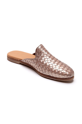 Taylor loafer-mule metallic