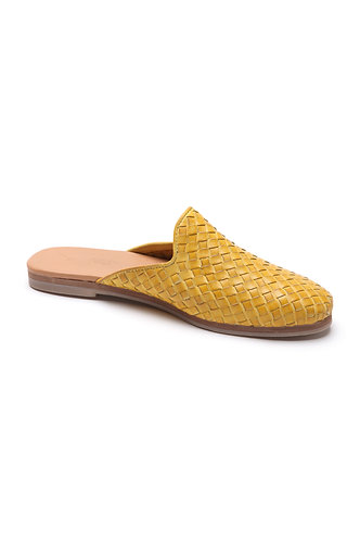 Taylor loafer-mule yellow
