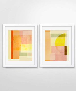 Collages, Sunset 1 & 2