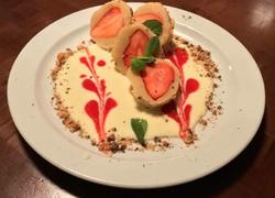 Erdbeer Marzipanknödel mit Vanille