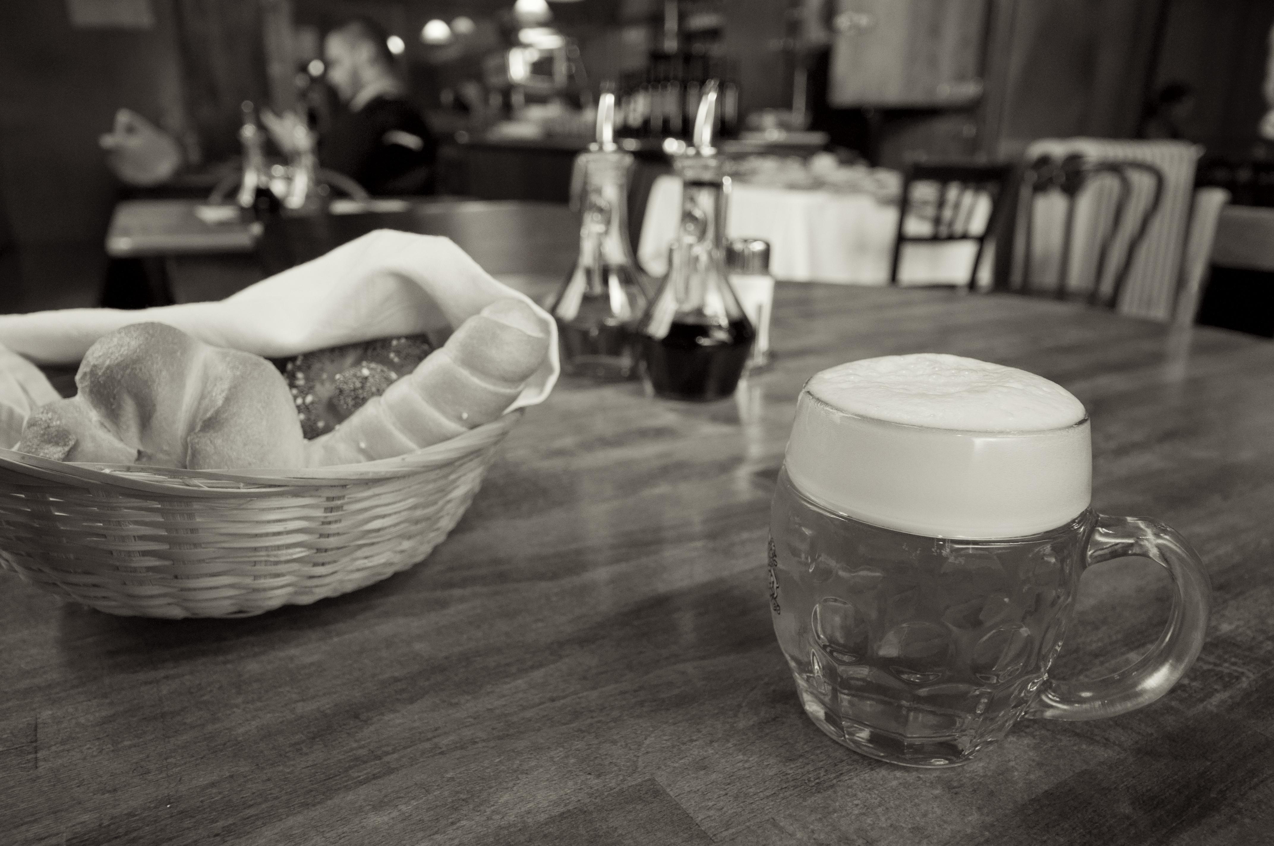 Villacher Bier auf Tisch 4