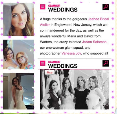 Glamour Weddings Lauren Manzo