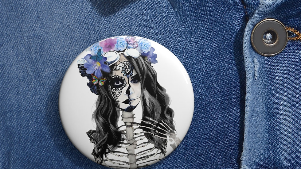 "Arti St ""Decomposing Lily"" Custom Pin Buttons"