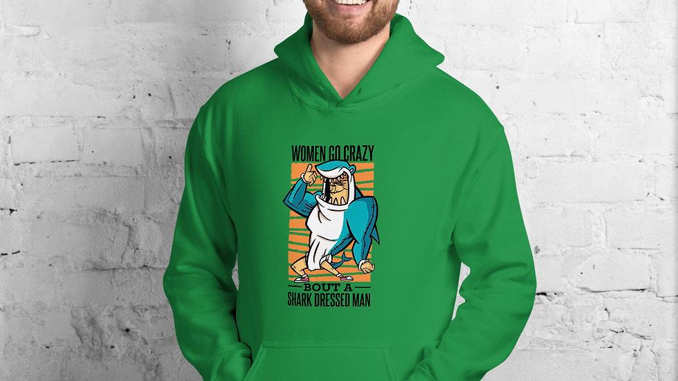 Arti St Shark Dressed Man Unisex Hoodie