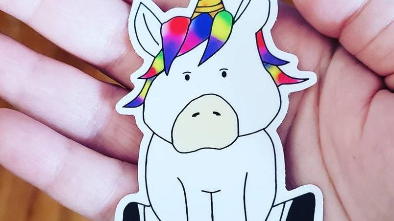 """Fernando"" Unicorn Sticker"