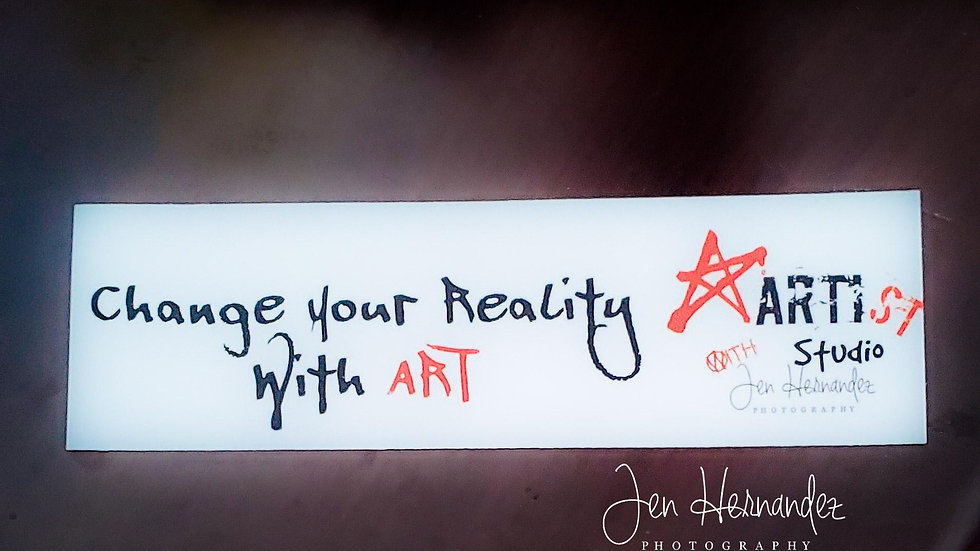 Change Your Reality with Art Bumper Sticker!