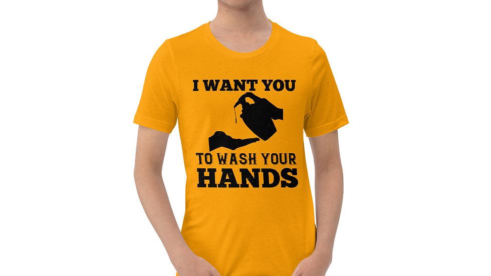 Wash Your Hands! Short-Sleeve Unisex T-Shirt