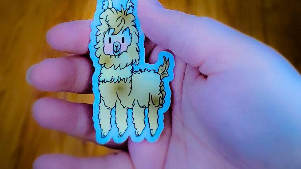 """""""Llawrence"""" the Llama Sticker"""
