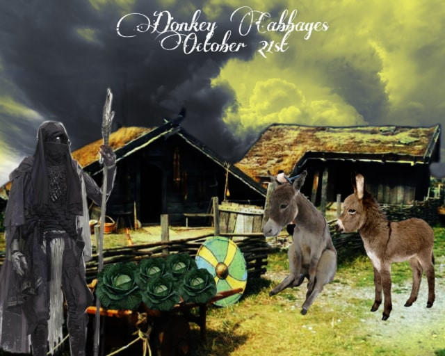 Inktober- Donkey Cabbages