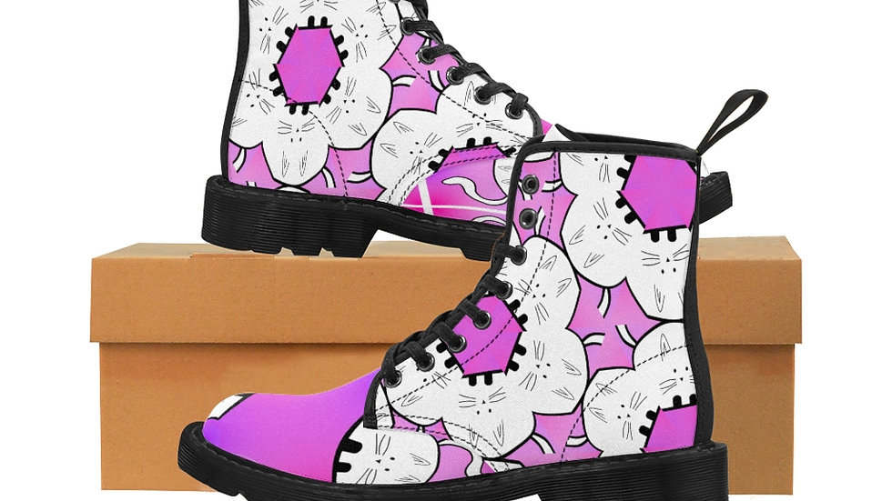 "Arti St ""Pinky Fat Cat"" Women's Canvas Boots"