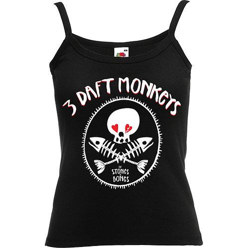 Of Stones & Bones Vest top (Black)