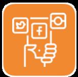 Social Media Marketing includes Facebook, Instagram, Twitter apps