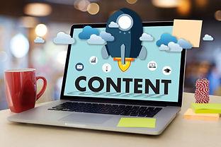 content marketing on a desktop