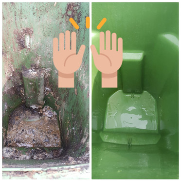 Before & After Bin Cleaning