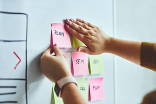 post-it notes to plan search engine optimization