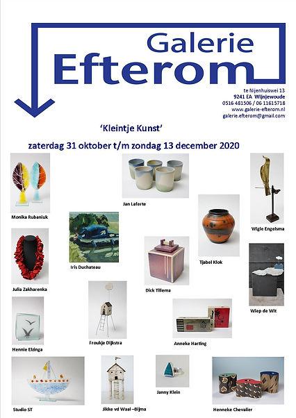 Uitnodiging expositie 'Kleintje Kunst'.j