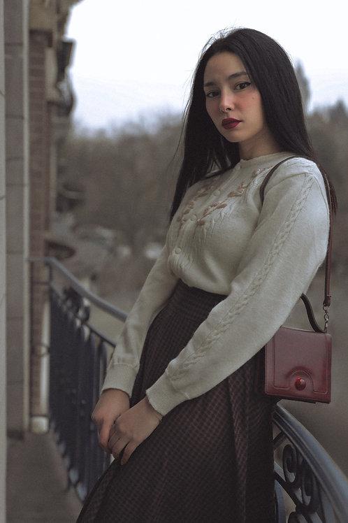 Grace Skirt Black / Camel