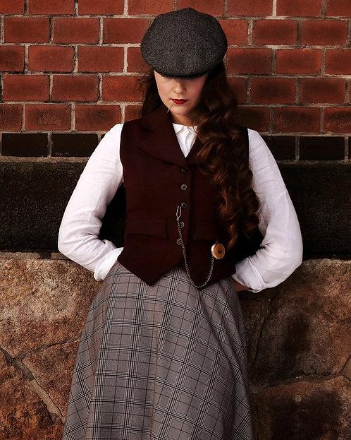 Peaky waistcoat red dark