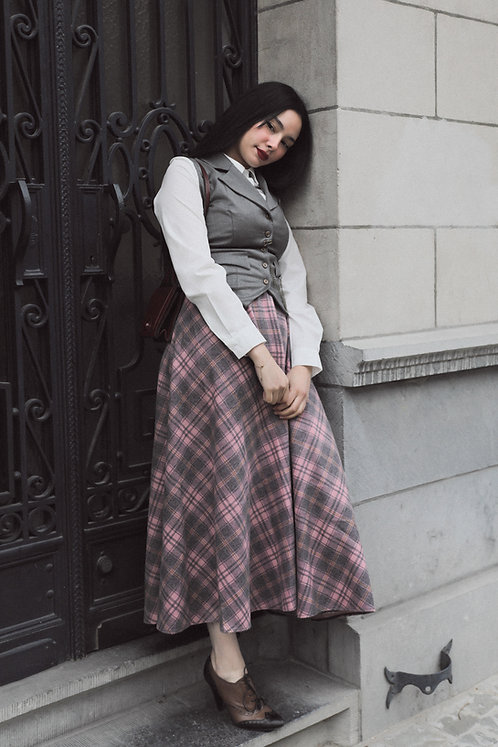 Peaky waistcoat Gray / pink