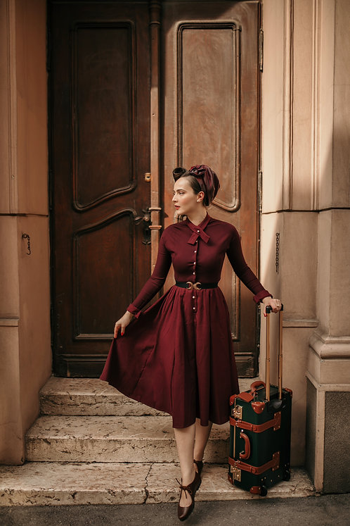 Mia Dress Bordeaux