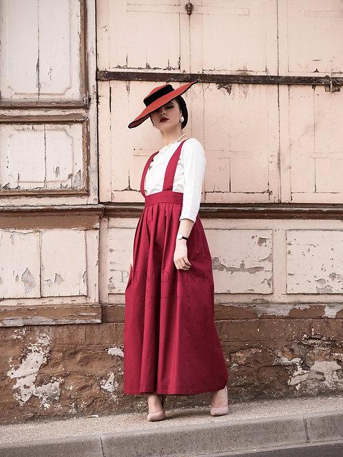 Agnès burgundy skirt