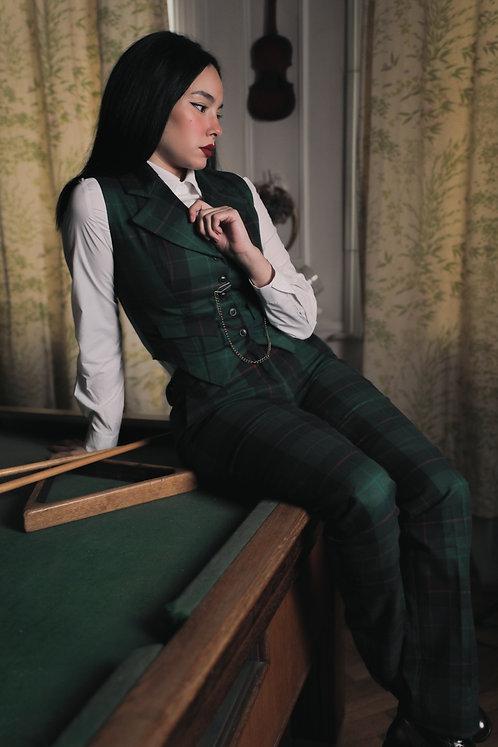 Peaky green check pants