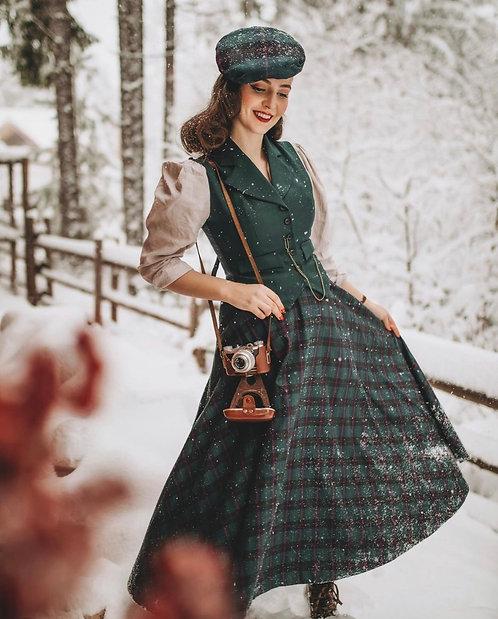 Grace Checkered Skirt / green