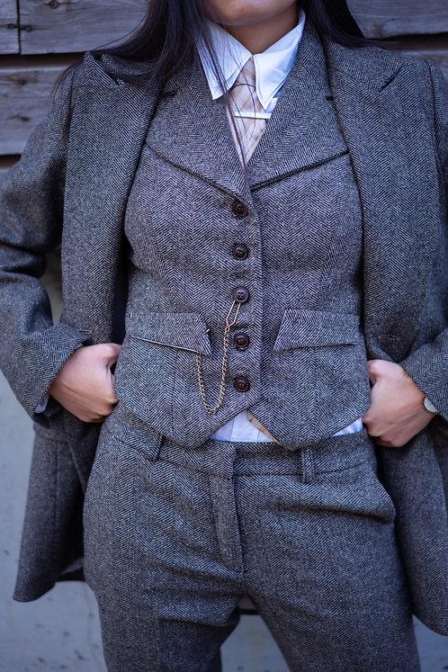 Peaky waistcoat Chevron