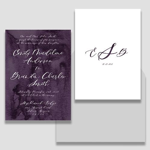 Simple Watercolor Invite + Envelope