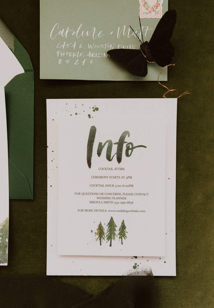 Forest Green Wedding suite.