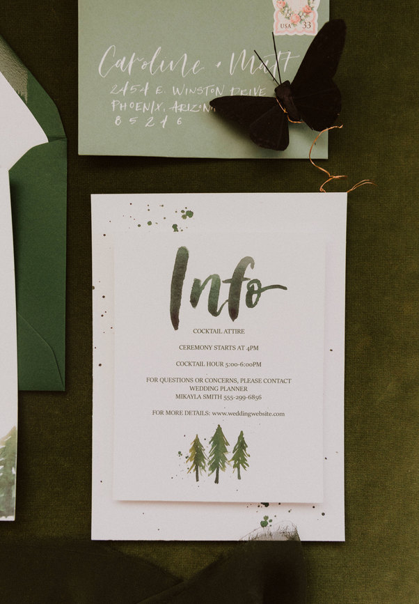 Forest Green Wedding suite.