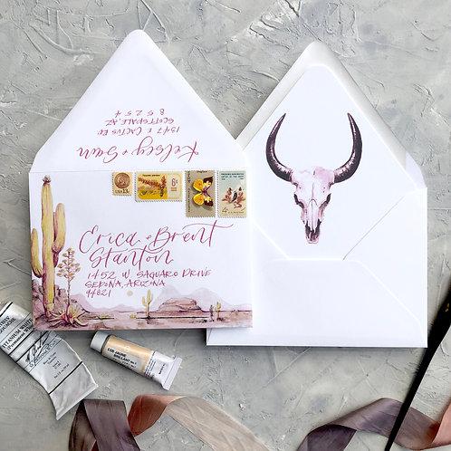 Pink Desert Envelope + Liner