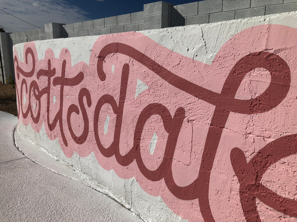 Close up of Scottsdale mural